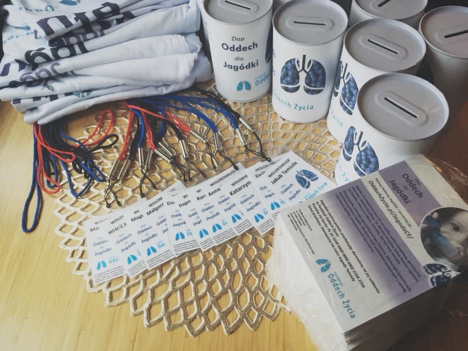 Pakiet startowy dla wolontariuszy Fundacji Oddech Życia